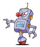 Crazy Robot. Illustration Vector 2D Cartoon royalty free illustration