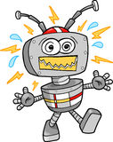 Crazy Robot Vector Illustration Royalty Free Stock Photography
