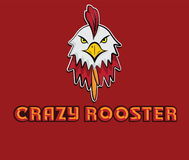 Crazy rooster art. Head of crazy rooster beak cock Stock Image