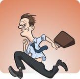 Crazy running businessman. Vector illustration of crazy running businessman stock illustration