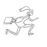 Crazy running shopping girl Royalty Free Stock Image