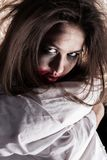Crazy sad woman stock image