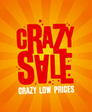 Crazy sale banner. Royalty Free Stock Image