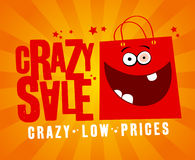 Crazy sale banner. Royalty Free Stock Photos
