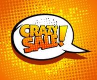 Crazy sale bubble talk. Crazy sale bubble talk in pop-art style Stock Photo