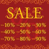 Crazy sale with discount Stock Photo