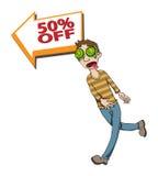 Crazy sale Stock Image