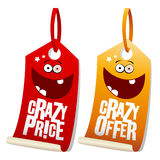 Crazy sale labels. Royalty Free Stock Image