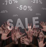 Crazy sale Royalty Free Stock Image