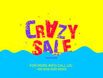 Crazy Sale Poster, Banner or Flyer design. Royalty Free Stock Photo