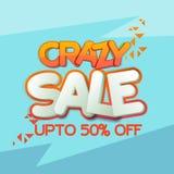 Crazy Sale Poster, Banner or Flyer Design. Stock Photo