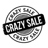 Crazy Sale rubber stamp Stock Photo