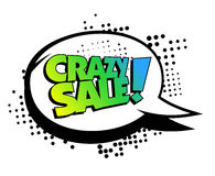 Crazy sale speech bubble banner Royalty Free Stock Image