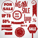 Crazy sale white red design Royalty Free Stock Images