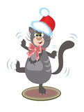 Crazy santa-cat Royalty Free Stock Image