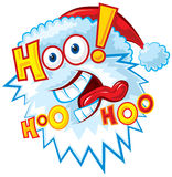 Crazy Santa - hoo hoo hoo. Funny Santa Vector illustration, without gradients, great for printing, easy to handle stock illustration