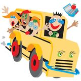 Crazy School Bus Stock Image