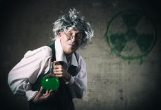 Crazy scientist Stock Photos