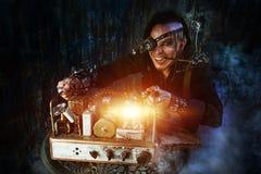 Crazy scientist Stock Photo