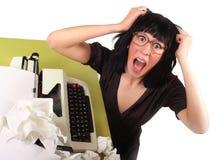 Crazy secretary Royalty Free Stock Images