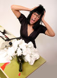Crazy secretary Stock Image