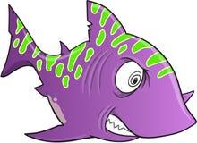 Crazy Shark Vector. Purple Crazy Shark Vector Illustration Art Royalty Free Stock Photos
