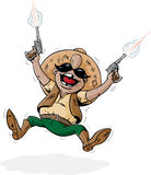 Crazy shooter Stock Images