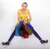 Crazy shopping Stock Photography