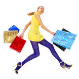 Crazy shopping Stock Images