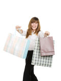 Crazy for shopping Stock Photo