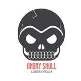 Crazy Skeleton Skull Cartoon Icon Royalty Free Stock Images