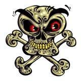 Crazy skull. Royalty Free Stock Photo