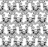 Crazy skulls seamless pattern. Royalty Free Stock Photography