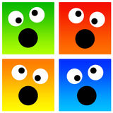 Crazy smileys Stock Image
