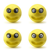 Crazy Smileys 3D. Isolated on white Stock Photos