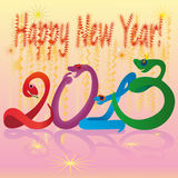 Crazy snakes and 2013 New Year colours. Crazy snakes and 2013 New Year snakes Stock Photos
