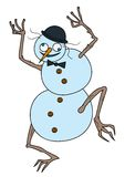 Crazy Snowman Royalty Free Stock Photo