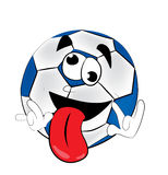 Crazy soccer ball cartoon Royalty Free Stock Images