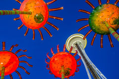 Crazy Space Needle Stock Photo