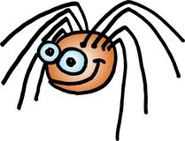 Crazy spider Stock Photography