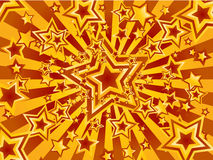 Crazy star explosion Royalty Free Stock Image