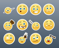 Crazy Stickers Stock Photography