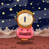 Crazy strange space alien or monster on a strange planet. Origin Royalty Free Stock Images