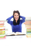 Crazy student girl Royalty Free Stock Image