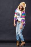 Crazy stylish girl Stock Photography