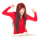 Crazy successful student girl Royalty Free Stock Photography