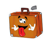 Crazy suitcase cartoon Royalty Free Stock Images