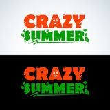 Crazy Summer apparel tshirt design. Colorful Summer Typography. Summer Design. Vector format. Royalty Free Stock Photography