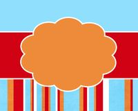 Crazy Summer Stripe Card Background Template Royalty Free Stock Image
