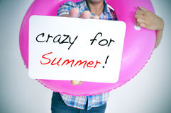 crazy for summer Stock Images